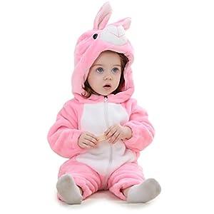 Adorel Pelele Buzo Pijama Manta con Capucha para Bebés Niño 10