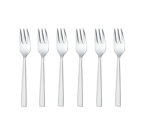 GRÄWE Ensemble de 6 fourchettes à dessert en acier inoxydable 18/10, série Copenhague