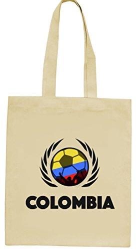 Colombia Football Wm Fanfest Groups Natura Iuta Borsa Di Stoffa Tote Bag Calcio Colombia Natura
