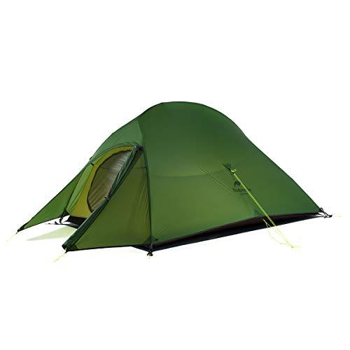 Naturehike Cloud-up Ultraleichte 2 Personen doppelten Zelt 3-4 Saison Camping Zelt (20D Waldgrün Upgrade)