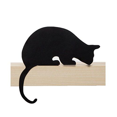Artori Design Ad192sb – de chat Meow – Sherlock – décoratifs en métal Noir Chat Silhouette