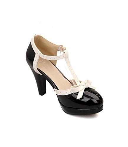 à Saisons Talons Femmes Sandales De Hauts Black Mode Sandales Chaussures Quatre GRRONG TxdqwAn0d
