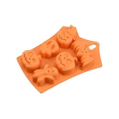 Tonpot 1Pcs 6Auch Halloween Silikon Form Eis Form Kid Kinder DIY Frozen Ice Cream Pop Formen für Desserts Obst Oder Joghurt