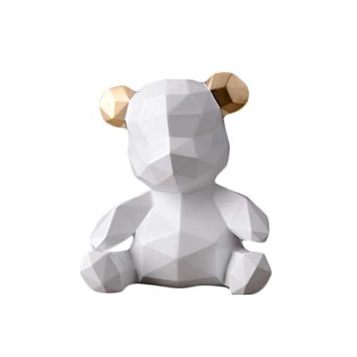 Spardosen Sparschwein Premium Harz Bär Dekoration Moderne Einfache Bär Piggy Kreative Kindergeburtstag Perfekte Geschenk (Color : Weiß, Size : 18 * 16.5 * 12cm) -