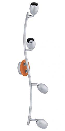 Couvre Lampe spot lumineux applique murale en acier mobile projecteur Silver orange EGLO 30251 BURONI