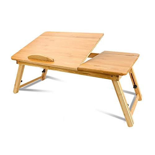 GAIQIN Dauerhaft Laptop-Schreibtisch – Bambus-Klapptisch – höhenverstellbar 55 * 30 * 26cm