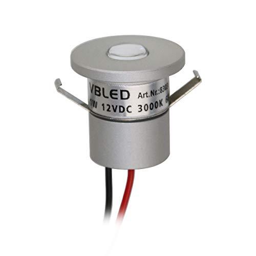VBLED® - Foco LED pequeño de aluminio (IP65, resistente al agua, 1...