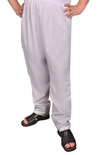Herren - Hose arabische Islamische Männer Sunna Hose (56-58 (XL), Weiß) (Indische Tracht Für Männer)