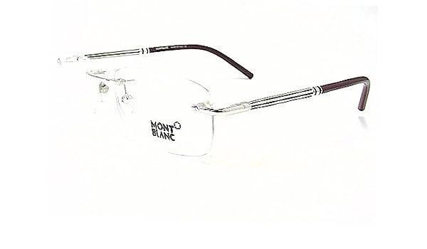 4ab2bfe32440 MONT BLANC MB-197 Eyeglasses MB197 Burgundy Silver F80 Frames   Amazon.co.uk  Clothing