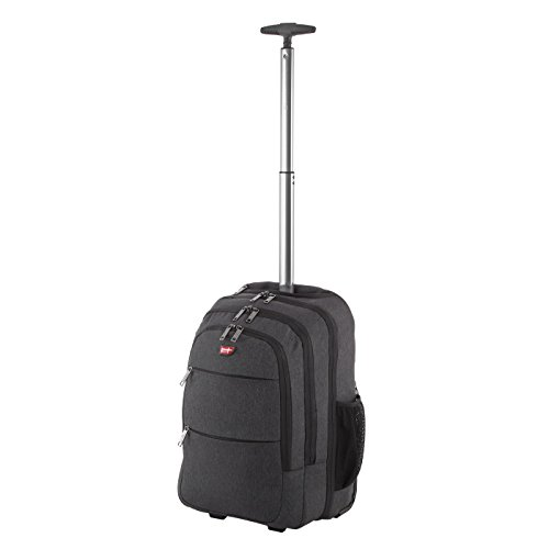 Von Cronshagen Rucksack Trolley Rucksack mit Rollen für Business oder Freizeit Mats 34x50x20cm mit 35 Liter Volumen