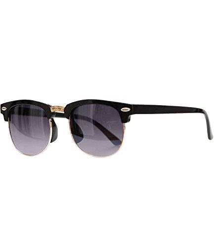 Caripe Sonnenbrille Retro Vintage Kinder Mädchen Jungen verspiegelt - klubbakid (One Size, 411 - schwarz - smoke Verlauf)
