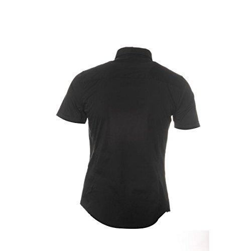 Armani Men's Short Sleeve Slim Fit Shirt 12-Black