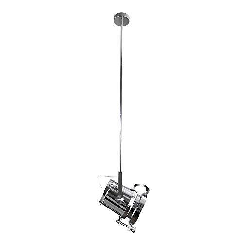 MJZH.AI Foco Industrial Techo Ajustable Vintage Foco Vertical Lámpara de Techo Lámpara Colgante para la decoración de Escenario de Plata