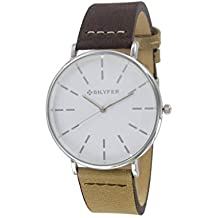 Reloj Bilyfer para Mujer con Correa Marron y Pantalla en Blanco 2W448-CA