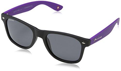Montana Eyewear Sunoptic MP40H Sonnenbrille in schwarz plus lila, inklusive Stoffbeutel