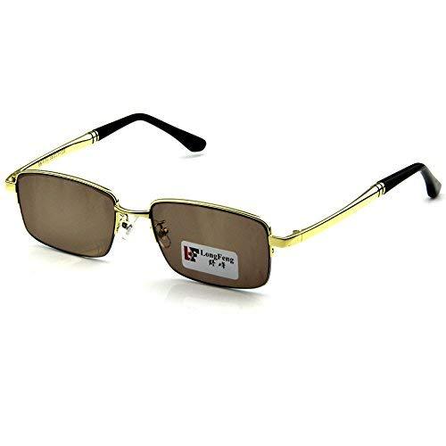 SCJ Halbrand Naturkristall Der Sonnenspiegel Titan Brillengestell Male Rock Mirror Driver Der Spiegel ist frisch und cool, um einen Augenkristall des Spiegels zu bewahren