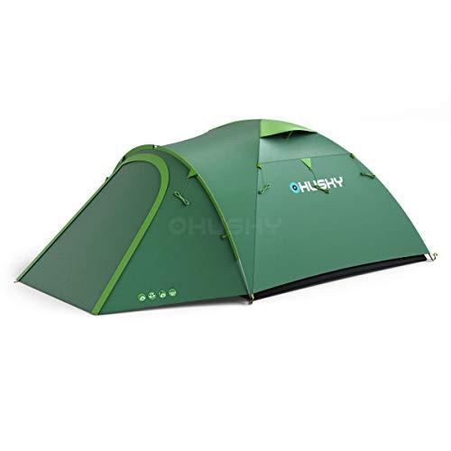 Husky Outdoor Kuppelzelt Zelt BIZON 4 grün, 4 Personen 6000WS 4.9 kg