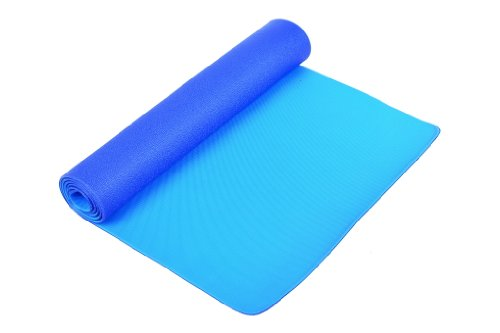 FA Sports Yogiplus - Esterilla de Yoga con 2 lados reversibles, color azul