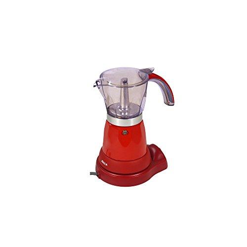 Jocca - Cafetera Italiana con Enchufe británico, Aluminio, Cristal, plástico, 13,6 x 20,5 x 24,4 cm