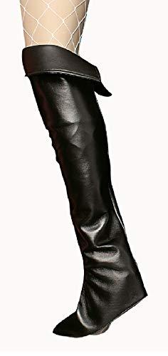 narrenkiste K84250696/T2803 schwarz Damen Stulpen Stiefelstulpen (Königs Knecht Kostüm)