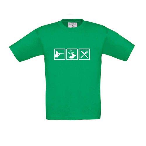 Cre9tive Shirts Jäger - Fun, Kinder T-Shirt, Größe 152-164, ()