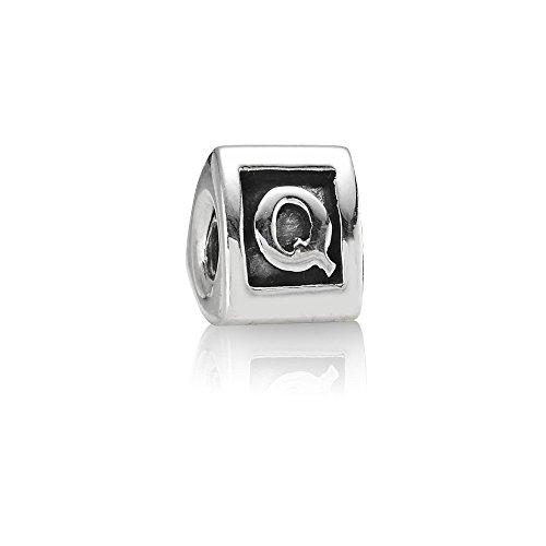 Pandora Damen-Bead Sterling-Silber 925 Buchstabenelement Q Kasi 79323-Q (Pandora Charm Zahl)