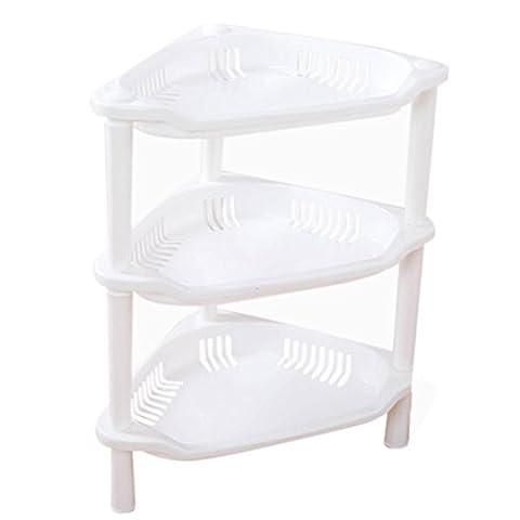 yanhoo 3Etagen Kunststoff Organizer Badezimmer Caddy Regal Küche Storage Rack Holder (weiß)