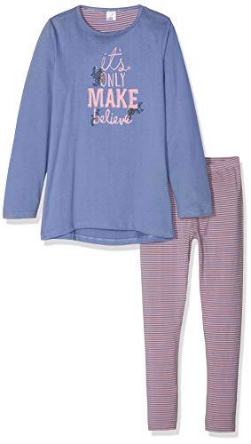 Kanz Mädchen Zweiteiliger Schlafanzug lang, Blau (Colony Blue 3106), 98