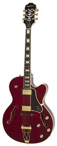 Epiphone Joe Pass Emperor-II Pro (ProBuckers; Coil-Tap), Wine Red (E-gitarre Gibson)