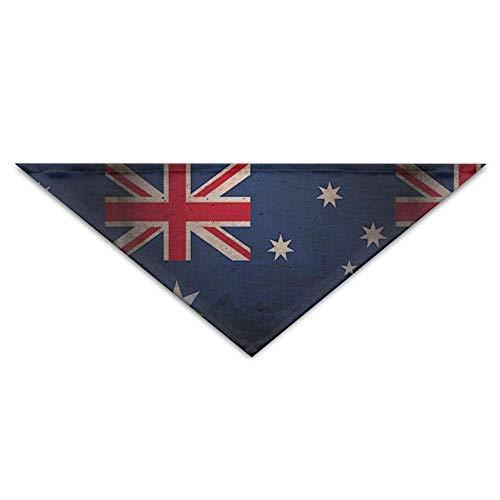 Hectwya Haustier-Bandanas Retro Australien-Flaggen-Hundebandanas-Schals-Dreieck-Lätzchen Schals einzigartige grundlegende Halstuch-Katzen-Halsbänder -