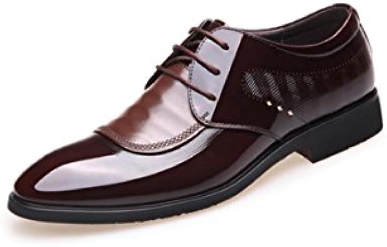 ZFNYY Schuhe der GeschäftsMänner Kleiden Spitze mit Spitze Hochzeitsschuhen an