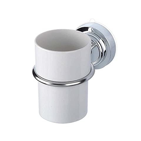 Stainless Steel Suction Cup Toothbrush Toothpaste Cup Holder Stand Wall