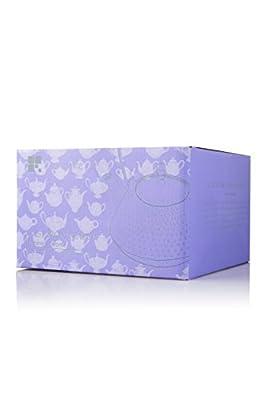 Resveralife Théière en fonte fleur lilas avec infuseur – Panier infuseur en acier inoxydable de fonte sophistiquée Design – violet – 32 oz