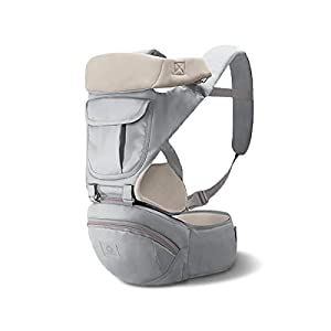 SONARIN 3 in 1 Multifunction Hipseat Baby Carrier,Front Facing Infant Sling,Large Storage,Ergonomic,All Seasons,Adapted to Your Child's Growing, 100% Guarantee and Free DELIVERY,Ideal Gift(Gray)   12