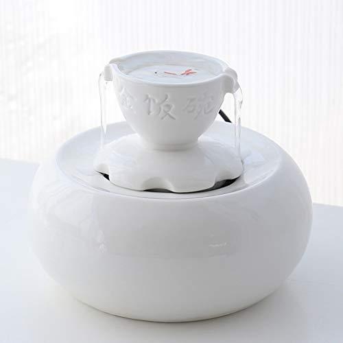 Fountain Automatischer Haustierspender Frisches Filterwasser Super Quiet Electric Drinking Bowl (Color : White) ()