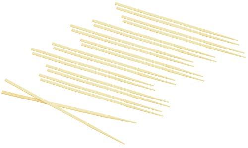 Fackelmann Bacchettine Cinesi Tradizionali in bambù, 10 Pezzi, Marrone, Lunghezza 22.5 cm