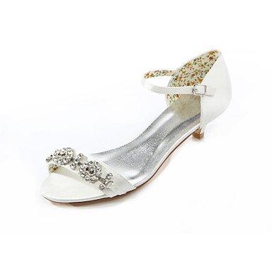 Zormey Frau Sommer Silk Wedding Dress Party & Amp Abends Niedrigem Absatz Crystal Elfenbein US8 / EU39 / UK6 / CN39