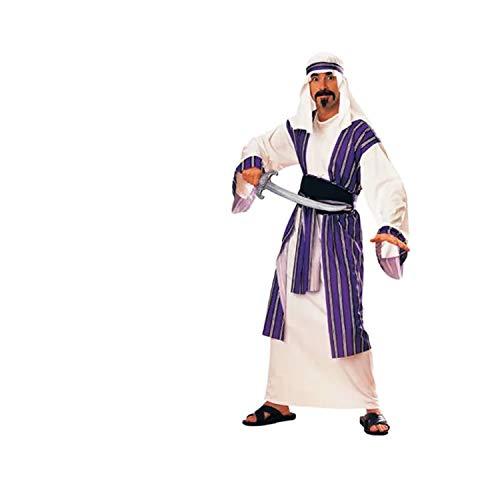 thematys Aladin Scheich Sultan Araber Kostüm-Set für Herren - perfekt für Cosplay, Karneval & Halloween - Einheitsgröße 160-175cm - (ohne - Saudi Arabien Kostüm