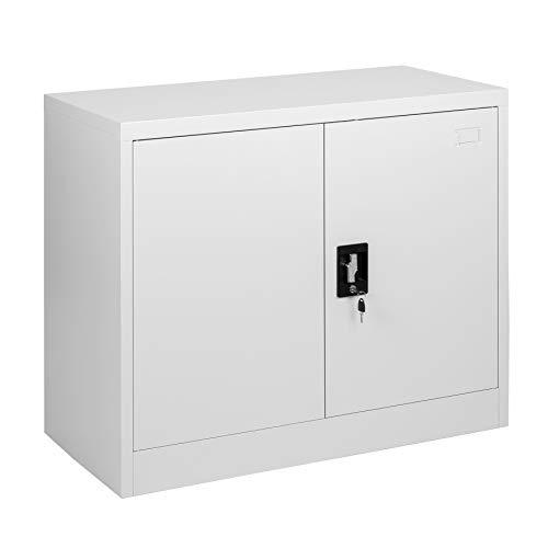 MMT Furniture Designs Archivador 2 puertas acero gris