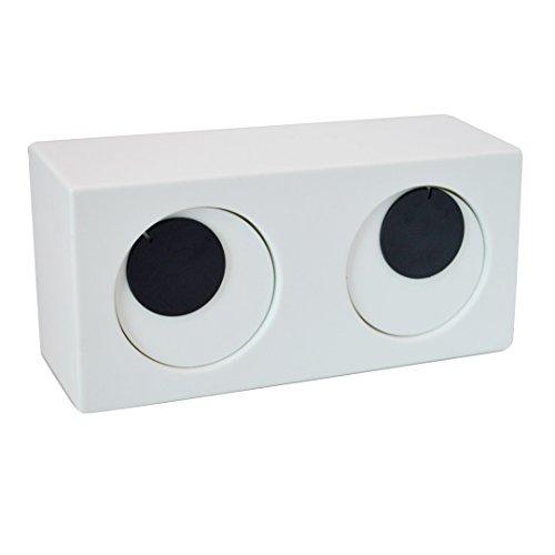 LAHAUTE designe Wecker große Augen- Art Spaß Wecker Kreative Geschenk Doppelglockenwecker, Bedside Wecker, Quarzlaufwerk, einfacher Student Bedside Ultra-ruhige