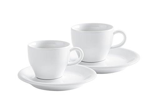 Kahla Cafe Sommelier - Set di tazzine da caffè, 4 pezzi, colore: Bianco