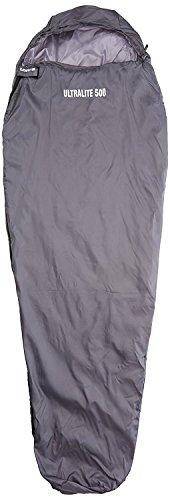 Loftra light 500 - sacco a pelo mummia, 500 g, grigio (grigio), 205 x 75 x 50 cm