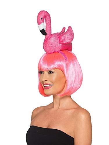 Kopfschmuck Vogel Kostüm - Smiffys 48880 Flamingo-Stirnband, Unisex, Erwachsene, Rosa