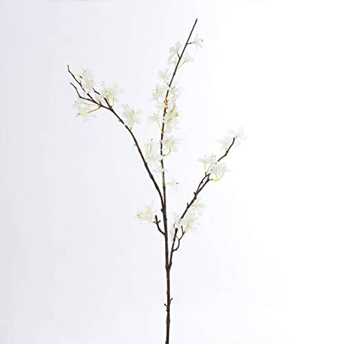 artplants.de Deko Apfelblütenzweig, Creme - weiß, 85cm - Kunstblumen - Künstlicher Zweig
