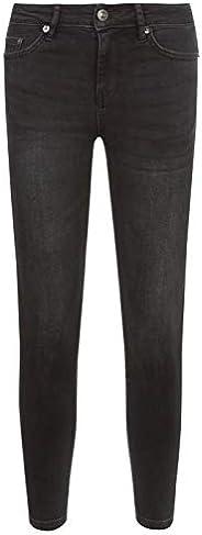 Teenzshop - Pantalones vaqueros ajustados negros para niña con bordado de ojos - 9-16 años (adulto XS-L)