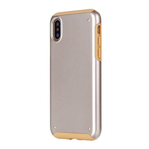 CaseforYou Hülle iphone X Schutz Gehäuse Hülse Premium Shatterproof Anti-Scratch Protective Shell Anti Drop Back Case Schutzhülle für iphone X Handy (Golden) Golden
