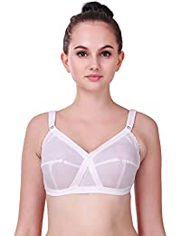 7207354082 Alive V Touch Full Coverage Cotton Bra for Women s and Girl s C Cup (White)