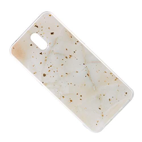 Mikikit hülle für Oppo R1, Stoßfest Exquisite Anti-Scratch Marmorierung Goldfolie Telefon Abdeckung Telefon Shell für Oppo R1