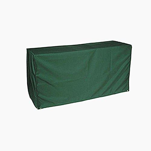 logei® Cubrir muebles de jardín muebles Abhaube Funda para muebles de jardín, casos de la cubierta para los conjuntos de mesas de jardín rectangular de mobiliario, de color verde oscuro,280 x 206 x 108 cm