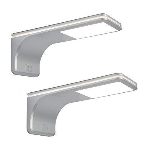 LED Küchen Unterbauleuchte ERLE 2 x 3,5 W Neutralweiss Touch Dimmer Schalter Konverter *564019